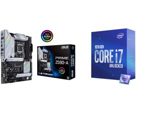 ASUS PRIME Z590-A LGA 1200 ATX Intel Motherboard and Intel Core i7-10700K Comet Lake 8-Core 3.8 GHz LGA 1200 125W Desktop Processor w/ Intel UHD Graphics 630