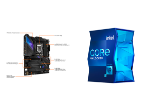 ASUS ROG STRIX Z590-E GAMING WIFI LGA 1200 ATX Intel Motherboard and Intel Core i9-11900K 3.5 GHz LGA 1200 BX8070811900K Desktop Processor