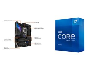 ASUS ROG STRIX Z590-E GAMING WIFI LGA 1200 ATX Intel Motherboard and Intel Core i7-11700K 3.6 GHz LGA 1200 BX8070811700K Desktop Processor