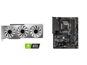GIGABYTE Vision GeForce RTX 3070 Ti 8GB GDDR6X PCI Express 4.0 x16 ATX Video Card GV-N307TVISION OC-8GD and GIGABYTE Z590 UD LGA 1200 Intel Z590 ATX Motherboard with Triple M.2 PCIe 4.0 USB 3.2 Gen 2 2.5GbE LAN