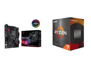 ASUS ROG STRIX B550-F GAMING AM4 AMD B550 SATA 6Gb/s ATX AMD Motherboard and AMD Ryzen 7 5800X Vermeer 8-Core 3.8 GHz Socket AM4 105W 100-100000063WOF Desktop Processor
