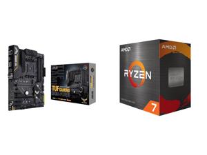 ASUS TUF GAMING B450-PLUS II AM4 AMD B450 SATA 6Gb/s ATX AMD Motherboard and AMD Ryzen 7 5800X Vermeer 8-Core 3.8 GHz Socket AM4 105W 100-100000063WOF Desktop Processor