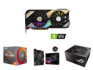 ASUS KO GeForce RTX 3070 8GB GDDR6 PCI Express 4.0 Video Card KO-RTX3070-O8G-GAMING and AMD RYZEN 7 3700X 8-Core 3.6 GHz (4.4 GHz Max Boost) Socket AM4 65W 100-100000071BOX Desktop Processor and ASUS ROG Strix B550-F Gaming (WiFi 6) AMD AM4