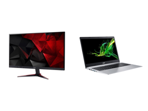 """Acer Nitro Gaming Series VG220Q bmiix 22"""" (21.5"""" Diagonal) Full HD 1920 x 1080 75Hz 1ms HDMI VGA AMD FreeSync Technology Flicker-Less Built-in Speakers LED Backlit IPS Gaming Monitor and Acer Laptop Aspire 5 A515-55-78S9 Intel Core i7 10th"""