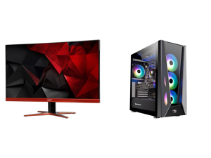 """Acer XG270HU omidpx 27"""" 2K 2560 x 1440 1ms 144Hz AMD FreeSync Technology Edge-to-Edge Frameless Design DVI-D HDMI DisplayPort Built-in Speakers LED Backlit LCD Gaming Monitor and iBUYPOWER Gaming Desktop Trace5MR 177i Intel Core i9 11th Gen"""