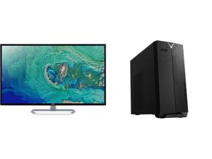 "Acer EB321HQU Cbidpx 32"" (Actual size 31.5"") WQHD 2560 x 1440 (2K) DVI HDMI DisplayPort LED Backlit IPS Monitor and Acer Aspire TC - AMD Ryzen 3 3200G - 8 GB DDR4 - 512 GB SSD - Radeon Vega 8 - Windows 10 Home - Desktop Computer (TC-390-UA9"
