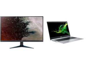 """Acer VG270U bmiipx 27"""" Quad HD 2560 x 1440 2K 1ms (VRB) 75Hz 2xHDMI DisplayPort AMD FreeSync Built-in Speakers Backlit LED IPS Gaming Monitor and Acer Laptop Aspire 5 A515-55-78S9 Intel Core i7 10th Gen 1065G7 (1.30 GHz) 12 GB Memory 512 GB"""