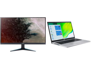 """Acer VG270U bmiipx 27"""" Quad HD 2560 x 1440 2K 1ms (VRB) 75Hz 2xHDMI DisplayPort AMD FreeSync Built-in Speakers Backlit LED IPS Gaming Monitor and Acer Laptop Aspire 5 Thin and Light Laptop A515-56-76J1 Intel Core i7 11th Gen 1165G7 (2.80 GH"""