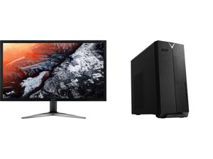 "Acer KG281K bmiipx 28"" 4K UHD (3840 x 2160) TN Monitor with AMD FREESYNC Technology (1 x Display Port 2 x HDMI 2.0 Ports) and Acer Aspire TC - AMD Ryzen 3 3200G - 8 GB DDR4 - 512 GB SSD - Radeon Vega 8 - Windows 10 Home - Desktop Computer ("