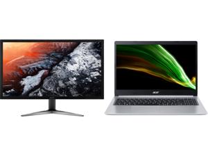"Acer KG281K bmiipx 28"" 4K UHD (3840 x 2160) TN Monitor with AMD FREESYNC Technology (1 x Display Port 2 x HDMI 2.0 Ports) and Acer Laptop Aspire 5 Thin and Light Laptop A515-45-R2B5 AMD Ryzen 5 5000 Series 5500U (2.10 GHz) 8 GB Memory 512 G"