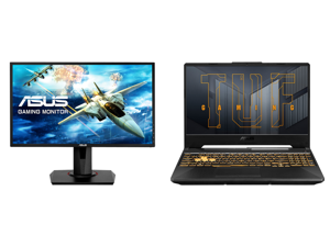 """ASUS VG248QG 24"""" Full HD 1920 x 1080 0.5ms 165Hz(overclockable) Gaming Monitor G-SYNC Compatible Adaptive-Sync ASUS Eye Care with Ultra Low-blue Light Flicker-Free Technology and ASUS TUF Gaming F15 - 15.6"""" 144 Hz IPS - Intel Core i7-11800H"""