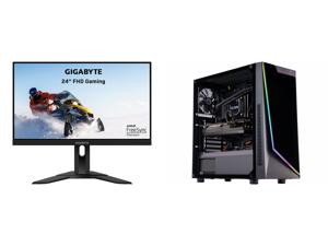 "GIGABYTE G24F 24"" (23.8"" Viewable) 165Hz/170Hz(OC) 1920 x 1080 SS IPS 1ms (MPRT) 90% DCI-P3 FreeSync Premium 1x DisplayPort 1.2 (HDR Ready) 2x HDMI 2.0 2x USB 3.0 Height Adjust Gaming Monitor and ABS Gladiator Gaming PC - Intel i7 10700KF -"