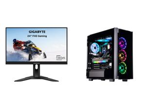 "GIGABYTE G24F 24"" (23.8"" Viewable) 165Hz/170Hz(OC) 1920 x 1080 SS IPS 1ms (MPRT) 90% DCI-P3 FreeSync Premium 1x DisplayPort 1.2 (HDR Ready) 2x HDMI 2.0 2x USB 3.0 Height Adjust Gaming Monitor and ABS Legend Gaming PC - AMD R9 5950X - EVGA G"