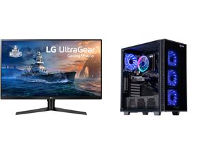 "LG 32GK650F-B 32"" (Actual size 31.5"") Quad HD 2560 x 1440 2K 144Hz 2xHDMI DisplayPort AMD Radeon FreeSync 3-Side Borderless Anti-Glare Backlit LED Gaming Monitor and ABS Challenger Gaming PC - Ryzen 5 3600 - GeForce GTX 1660 Super - 16GB DD"