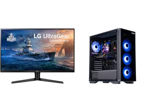"LG 32GK650F-B 32"" (Actual size 31.5"") Quad HD 2560 x 1440 2K 144Hz 2xHDMI DisplayPort AMD Radeon FreeSync 3-Side Borderless Anti-Glare Backlit LED Gaming Monitor and ABS Master Gaming PC - Intel i7 10700F - GeForce RTX 3060 - 16GB DDR4 3000"