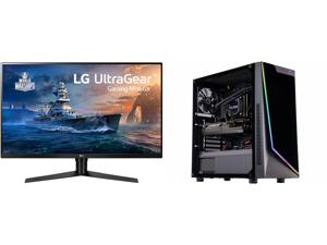 "LG 32GK650F-B 32"" (Actual size 31.5"") Quad HD 2560 x 1440 2K 144Hz 2xHDMI DisplayPort AMD Radeon FreeSync 3-Side Borderless Anti-Glare Backlit LED Gaming Monitor and ABS Gladiator Gaming PC - Intel i7 10700KF - GeForce RTX 3070 8GB - 16GB D"