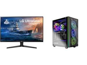 "LG 32GK650F-B 32"" (Actual size 31.5"") Quad HD 2560 x 1440 2K 144Hz 2xHDMI DisplayPort AMD Radeon FreeSync 3-Side Borderless Anti-Glare Backlit LED Gaming Monitor and Skytech Chronos Gaming PC Desktop AMD Ryzen 7 3700X 8-Core 3.60GHz NVIDIA"