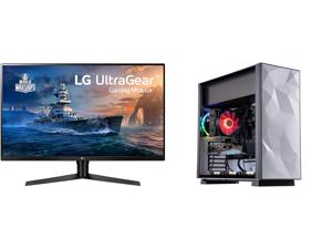 "LG 32GK650F-B 32"" (Actual size 31.5"") Quad HD 2560 x 1440 2K 144Hz 2xHDMI DisplayPort AMD Radeon FreeSync 3-Side Borderless Anti-Glare Backlit LED Gaming Monitor and ABS Gladiator Gaming PC - Ryzen 7 3700X - GeForce RTX 3070 - 16GB DDR4 320"
