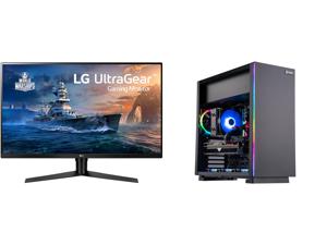 "LG 32GK650F-B 32"" (Actual size 31.5"") Quad HD 2560 x 1440 2K 144Hz 2xHDMI DisplayPort AMD Radeon FreeSync 3-Side Borderless Anti-Glare Backlit LED Gaming Monitor and ABS Gladiator Gaming PC - Ryzen 5 5600X - Radeon RX 6700 XT - G.Skill Trid"
