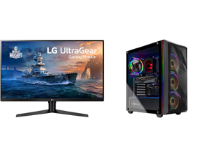 "LG 32GK650F-B 32"" (Actual size 31.5"") Quad HD 2560 x 1440 2K 144Hz 2xHDMI DisplayPort AMD Radeon FreeSync 3-Side Borderless Anti-Glare Backlit LED Gaming Monitor and Skytech Chronos Gaming PC Desktop - AMD Ryzen 7 3700X 3.60 GHz RTX 3070 8"
