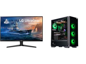 "LG 32GK650F-B 32"" (Actual size 31.5"") Quad HD 2560 x 1440 2K 144Hz 2xHDMI DisplayPort AMD Radeon FreeSync 3-Side Borderless Anti-Glare Backlit LED Gaming Monitor and ABS Gladiator Gaming PC - Intel i7 10700KF - GeForce RTX 3080 - G.Skill Tr"