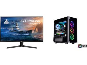 "LG 32GK650F-B 32"" (Actual size 31.5"") Quad HD 2560 x 1440 2K 144Hz 2xHDMI DisplayPort AMD Radeon FreeSync 3-Side Borderless Anti-Glare Backlit LED Gaming Monitor and ABS Legend Gaming PC - AMD R9 5950X - EVGA GeForce RTX 3080 Ti FTW3 Ultra"
