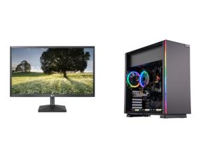 "LG 27BK430H-B 27"" Full HD 1920 x 1080 75Hz HDMI VGA AMD FreeSync Technology LED Backlit IPS Monitor and ABS Master Gaming PC - Ryzen 5 3600 - GeForce RTX 2060 - 16GB DDR4 3000MHz - 512GB SSD"