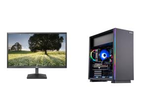 "LG 27BK430H-B 27"" Full HD 1920 x 1080 75Hz HDMI VGA AMD FreeSync Technology LED Backlit IPS Monitor and ABS Gladiator Gaming PC - Ryzen 5 5600X - Radeon RX 6700 XT - G.Skill TridentZ RGB 16GB DDR4 3200MHz - 1TB M.2 NVMe SSD - RGB CPU Cooler"