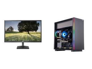 "LG 27BK430H-B 27"" Full HD 1920 x 1080 75Hz HDMI VGA AMD FreeSync Technology LED Backlit IPS Monitor and ABS Gladiator Gaming PC - Ryzen 7 5800X - EVGA GeForce RTX 3070 XC3 Ultra Gaming 8GB - G.Skill TridentZ RGB 16GB DDR4 3200MHz - 1TB M.2"