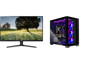"LG ULTRAGEAR 32GK65B-B 32"" 144HZ 1ms QHD 2560 x 1440 2K Resolution 2 x HDMI DisplayPort Radeon FreeSync NVIDIA G-SYNC Compatible Borderless Design HDCP Widescreen LED Backlit Gaming Monitor and Skytech Gaming PC Desktop AMD Ryzen 9 5900X 3."
