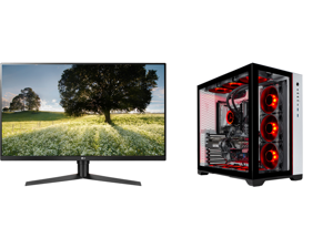 "LG ULTRAGEAR 32GK65B-B 32"" 144HZ 1ms QHD 2560 x 1440 2K Resolution 2 x HDMI DisplayPort Radeon FreeSync NVIDIA G-SYNC Compatible Borderless Design HDCP Widescreen LED Backlit Gaming Monitor and Skytech Prism II Gaming PC Desktop - Intel i9-"