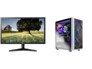 "LG 24GL65B-B 24"" Full HD 1920 x 1080 144Hz 1ms GTG 2 x HDMI DisplayPort Radeon FreeSync Technology Flicker Safe Anti-Glare Widescreen LED Backlit Gaming Monitor and Skytech Chronos Gaming PC Desktop AMD Ryzen 7 5800X 3.80GHz NVIDIA GeForce"