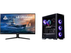 "LG 32GK650F-B 32"" (Actual size 31.5"") Quad HD 2560 x 1440 2K 144Hz 2xHDMI DisplayPort AMD Radeon FreeSync 3-Side Borderless Anti-Glare Backlit LED Gaming Monitor and ABS Challenger Gaming PC - Ryzen 5 3600 - GeForce GTX 1650 - 16GB DDR4 300"