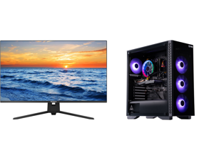 """Westinghouse WH32UX9019 32"""" Ultra HD 3840 x 2160 4K Resolution 2xHDMI DisplayPort Flicker-Free Low Blue Light Filter Frameless Design Widescreen LED Backlit LCD Monitor and ABS Challenger Gaming PC - Ryzen 5 3600 - GeForce GTX 1650 - 16GB D"""
