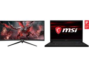 "MSI Optix MAG301CR2 30"" WFHD 2560 x 1080 1ms (MPRT) 200Hz HDMI DisplayPort USB FreeSync (AMD Adaptive Sync) Curved Gaming Monitor and MSI GS66 Stealth 10SF-683 - 15.6"" - Intel Core i7-10750H - GeForce RTX 2070 Max-Q - 16 GB Memory - 1 TB SS"