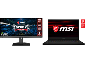 "MSI 29.5"" Optix MAG301RF Full HD 1920 x 1080 200Hz SS IPS 1ms (GTG) DisplayPort HDMI Tilt Swivel Height Adjust VESA G-Sync Compatible Gaming Monitor and MSI GS66 Stealth 10SF-683 - 15.6"" - Intel Core i7-10750H - GeForce RTX 2070 Max-Q - 16"