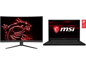 "MSI Optix G27CQ4 27"" QHD 2560 x 1440 (2K) 165 Hz 2 x HDMI DisplayPort FreeSync Curved Gaming Monitor and MSI GS66 Stealth 10SF-683 - 15.6"" - Intel Core i7-10750H - GeForce RTX 2070 Max-Q - 16 GB Memory - 1 TB SSD - Windows 10 Home - Gaming"