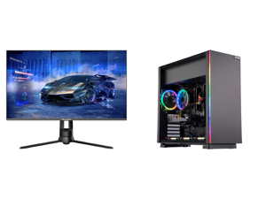 """Westinghouse WM27PX9019 27"""" Full HD 1920 x 1080 144Hz HDMI VGA DisplayPort AMD FreeSync Technology Flicker-Free Edgeless Design Eye Care Technology Widescreen Backlit LED Gaming Monitor and ABS Master Gaming PC - Ryzen 5 3600 - GeForce RTX"""