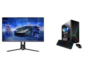 """Westinghouse WM32DX9019 32"""" WQHD 2560 x 1440 2K Resolution 144Hz HDMI DisplayPort AMD FreeSync Technology Flicker-Free Anti-Glare Widescreen Backlit LED Gaming Monitor and iBUYPOWER Slate 4 163A - AMD Ryzen 5 3600 - Radeon RX 580 - 16 GB DD"""