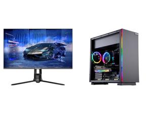 "Westinghouse WM32DX9019 32"" WQHD 2560 x 1440 2K Resolution 144Hz HDMI DisplayPort AMD FreeSync Technology Flicker-Free Anti-Glare Widescreen Backlit LED Gaming Monitor and ABS Gladiator Gaming PC - Ryzen 5 5600X - EVGA GeForce RTX 3070 Ti F"