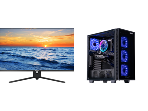 """Westinghouse WH32UX9019 32"""" Ultra HD 3840 x 2160 4K Resolution 2xHDMI DisplayPort Flicker-Free Low Blue Light Filter Frameless Design Widescreen LED Backlit LCD Monitor and ABS Challenger Gaming PC - Ryzen 5 3600 - GeForce GTX 1660 Super -"""