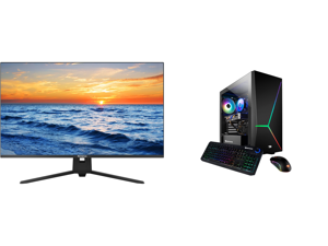 """Westinghouse WH32UX9019 32"""" Ultra HD 3840 x 2160 4K Resolution 2xHDMI DisplayPort Flicker-Free Low Blue Light Filter Frameless Design Widescreen LED Backlit LCD Monitor and iBUYPOWER Slate 4 163A - AMD Ryzen 5 3600 - Radeon RX 580 - 16 GB D"""