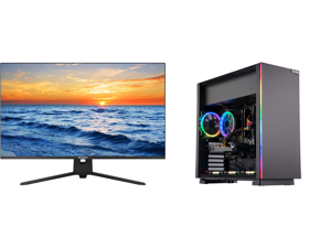 """Westinghouse WH32UX9019 32"""" Ultra HD 3840 x 2160 4K Resolution 2xHDMI DisplayPort Flicker-Free Low Blue Light Filter Frameless Design Widescreen LED Backlit LCD Monitor and ABS Master Gaming PC - Ryzen 5 3600 - GeForce RTX 2060 - 16GB DDR4"""