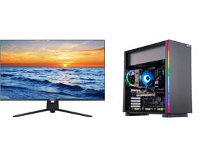 """Westinghouse WH32UX9019 32"""" Ultra HD 3840 x 2160 4K Resolution 2xHDMI DisplayPort Flicker-Free Low Blue Light Filter Frameless Design Widescreen LED Backlit LCD Monitor and ABS Gladiator Gaming PC - Ryzen 7 5800X - EVGA GeForce RTX 3070 XC3"""