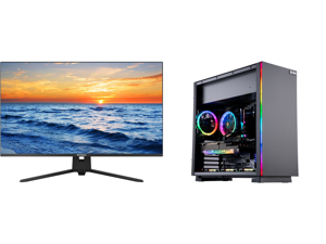 """Westinghouse WH32UX9019 32"""" Ultra HD 3840 x 2160 4K Resolution 2xHDMI DisplayPort Flicker-Free Low Blue Light Filter Frameless Design Widescreen LED Backlit LCD Monitor and ABS Gladiator Gaming PC - Ryzen 5 5600X - EVGA GeForce RTX 3070 Ti"""