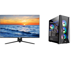 """Westinghouse WH32UX9019 32"""" Ultra HD 3840 x 2160 4K Resolution 2xHDMI DisplayPort Flicker-Free Low Blue Light Filter Frameless Design Widescreen LED Backlit LCD Monitor and iBUYPOWER Gaming Desktop Trace5MR 177i Intel Core i9 11th Gen 11900"""