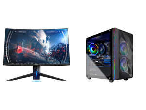 """Westinghouse WC27PX9019 27"""" Full HD 1920 x 1080 144Hz 2xHDMI DisplayPort AMD FreeSync Technology Flicker-Free USB 3.0 Hub Low Blue Light Eye Care Widescreen Backlit LED Curved Gaming Monitor and Skytech Chronos Mini Gaming Computer PC Deskt"""