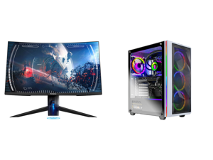 """Westinghouse WC27PX9019 27"""" Full HD 1920 x 1080 144Hz 2xHDMI DisplayPort AMD FreeSync Technology Flicker-Free USB 3.0 Hub Low Blue Light Eye Care Widescreen Backlit LED Curved Gaming Monitor and Skytech Chronos Gaming Computer PC Desktop -"""