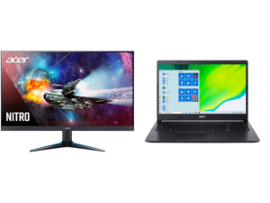 """Acer Nitro VG280K bmiipx 28"""" IPS 3840 x 2160P 4K 1ms UHD AMD FreeSync HDR 2 x HDMI DisplayPort Built-in Speaker Gaming Monitor and Acer Laptop Aspire 5 Thin and Light Laptop A515-44-R4M5 AMD Ryzen 5 4000 Series 4500U (2.30 GHz) 8 GB Memory"""