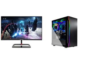 "Sceptre 27"" QHD IPS LED Monitor 2560 x 1440P 2K HDR400 HDMI DisplayPort up to 144Hz 1ms Height Adjustable Build-in Speakers Gunmetal Black 2021 (E275B-QPN168) and Skytech Gaming PC Desktop AMD Ryzen 5 3600 6-Core GTX 1660 Super 6GB 16GB DDR"